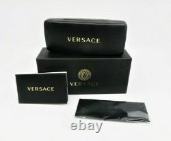 VERSACE Unisex Aviator Black/Gold Sunglasses with Box MOD 2193 1428/87 56mm