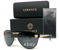 VERSACE VE2161 100287 Gold / Gray 42mm Sunglasses