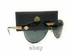 VERSACE VE2161 100287 Gold Grey Women's Sunglasses 42mm