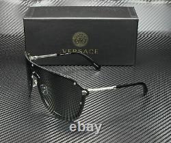 VERSACE VE2180 10005A SilVEr Dark Grey Mirror Gold 44 mm Women's Sunglasses