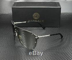 VERSACE VE2180 10006G Silver Light Grey Mirror Silver 44 mm Women's Sunglasses
