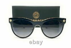 VERSACE VE2198 1002 T3 Black Grey Polarized Women's Sunglasses 54 mm