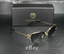 VERSACE VE2203 143811 Black Gold Grey Gradient 53 mm Women's Sunglasses