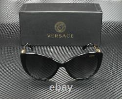 VERSACE VE4295 GB1 T3 Black Polarized Grey Gradient 57 mm Women's Sunglasses