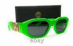 VERSACE VE4361 531987 Green Rectangle Unisex Sunglasses 53 mm
