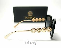 VERSACE VE4375 GB1 T3 Black Grey Gradient Polarized Lens Women Sunglasses 53mm