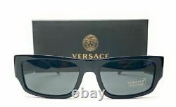 VERSACE VE4385 GB1 87 Black Grey Men's Sunglasses 56 mm