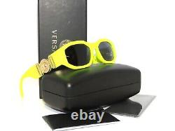 Versace 4361 5321/87 Yellow Fluo Gray Sunglasses Unisex