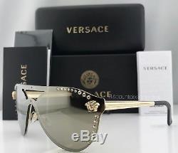 Versace GLAM MEDUSA VE2161B Sunglasses Pale Gold Gold Mirror 1252/5A