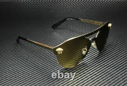 Versace VE2161 1002 F9 Gold Brown Mirror Lens Women Sunglasses 42mm