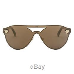 Versace VE2161 Rock Icons Medusa Sunglasses 1002/F9 Gold / Brown Mirrored Lens
