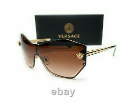 Versace VE2182 125213 Pale Gold Brown Gradient Women's Sunglasses 140mm