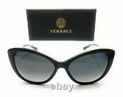 Versace VE4295 GB1T3 Black Women's Cat Eye Polarized Sunglasses 57 mm