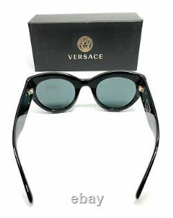 Versace VE4353 GB1 87 Black Gold Women's Cat Eye Sunglasses 51-26