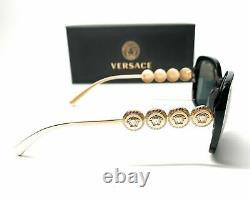 Versace VE4375 GB1 87 Black Grey Lens Women Sunglasses 53mm