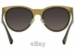 Versace Woman Polarized Sunglasses, Black Lenses Metal Frame, 54mm
