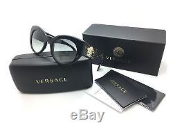 Versace Women Black Cats Eye New Sunglasses MOD 4297 2N 5156 11 54 Plastic