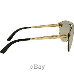 Versace Women's VE2161-10026G-42 Gold Shield Sunglasses