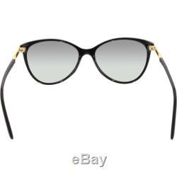 Versace Women's VE4260-GB1/11-58 Black Cat Eye Sunglasses
