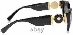 Versace Women's VE4368 Black/Grey Sunglasses