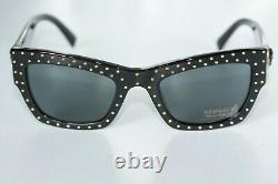 Versace Womens Sunglasses VE4358A GB1/87 Black & Gold With Grey Gradient Lens NEW