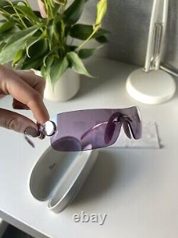 Vintage Dior pink shield sunglasses y2k 2000s