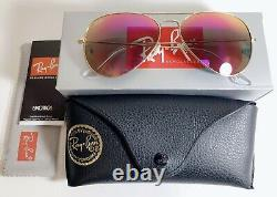 Women Ray Ban Aviator Pilot Sunglasses Pink Unisex Mirrored USA