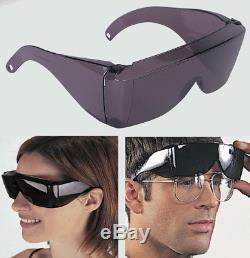 Wrap Around Black Sunglasses UV Protection Over Glasses Safety Shields Post Op