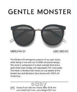 2019 Monstre Doux Lunettes De Soleil Merlynn Noir Lenses Noir Zeiss
