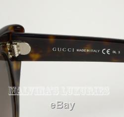 490 $ Gucci Lunettes De Soleil Gg 3806 / S 086ha Cat Eye Tortoise Mère De Perle Célèbre