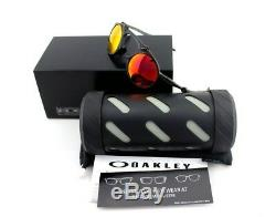 600 $ Polarise Rare Nouveau Oakley Fou Ruby Iridium Lunettes De Soleil Carbone Oo 6019-04