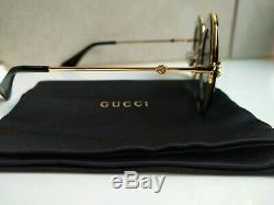 Authentique Gucci Lunettes De Soleil Gg0113s ronde Cadre L'amour Par Aveugle
