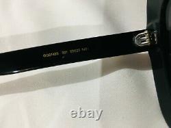 Authentique New Gucci Gg0148 S 001 Lunettes De Soleil Cristal Black Frame