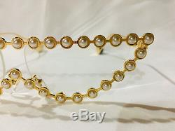 Authentique Nouvelle Lunettes De Soleil Gucci Gg0364s Cat Eye Métal Perle Transparentlens $ 1175