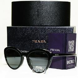 Authentique Prada Ss20 Femmes Lunettes De Soleil Black Ultravox Evolution Spr 23s 1ab-5s0