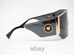 Authentique Versace Ve 2220 1002/87 Or Avec Lunettes De Soleilgrey