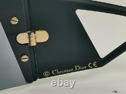 Authentiques Lunettes De Soleil Dior Femmes Noir Kaleidiorscopic Shield Visor Ski Vintage