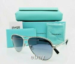 Aviator Argent Lunettes De Soleil New Withbox Tf 3062 6001 / 57mm Tiffany 4l & Co. Femmes