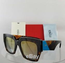 Brand New Authentic Fendi Ff 0263 / S Lunettes De Soleil 086fq Tortoise Blue Cadre 0263