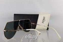 Brand New Authentique Fendi Ff 0193 / S Lunettes De Soleil 0000j Cadre En Miroir Doré 0193