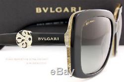 Brand New Bvlgari Lunette De Soleil 8146b 5325/11 Noir / Gris Dégradé Femme Taille 55