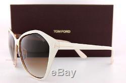 Brand New Tom Ford Lunettes De Soleil Tf 0391 391 Lena 25f Blanc / Gradient Brown Femme