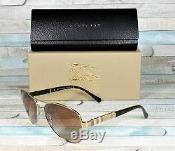 Burberry Be3080-114513 Light Gold Gradient Brun 59 MM Lunettes De Soleil De Femme