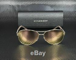 Burberry Be3080 12357j Matte Or Brown Mirr Rose D'or 59 MM Lunettes De Soleil Femme