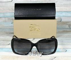 Burberry Be4160 34338g Noir Gris Dégradé 58 MM Lunettes De Soleil Femme