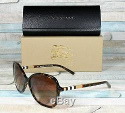 Burberry Be4197 300213 Dark Havana Brown Dégradé 58 MM Lunettes De Soleil Femme