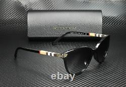 Burberry Be4216f 30018g Noir Gris Gradient 57 MM Lunettes De Soleil Pour Femmes