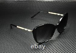 Burberry Be4235q 30018 Lunettes De Soleil Gris Noir 57 MM Femme