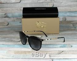 Burberry Be4250q 30018g Noir Gris Dégradé 54 MM Lunettes De Soleil Pour Hommes