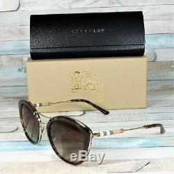 Burberry Be4251q 300213 Dark Havana Brown Dégradé 53 MM Lunettes De Soleil Femme